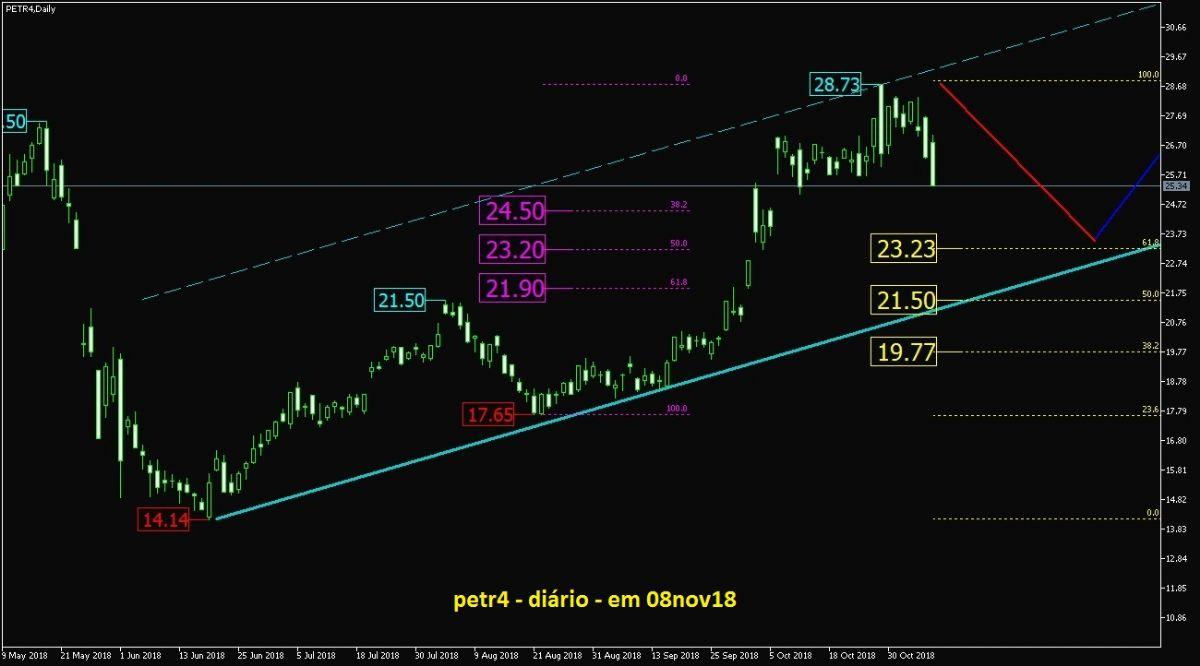 Petrobras PN grafico diario
